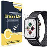 UniqueMe [6 Pezzi] Pellicola Protettiva per Apple Watch 44mm Series 4/5, [Caso Amichevole] [Film Flessibile] Soft HD Clear TPU Film, Anti-Scratch