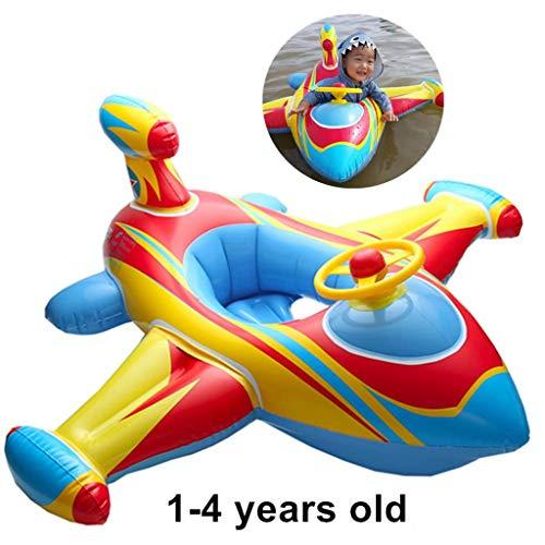 XIALIUXIA Moto Acuática Hinchable para Niños, Inflable Anillo Natación Ayuda De Seguridad, Inflable Piscina Nadar Anillo,A