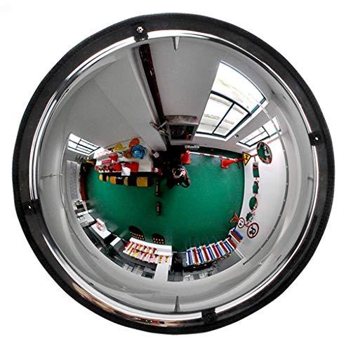 DLC Verkehr im Freien Weitwinkelobjektiv, Eckspiegel Acryl Pmma-Spiegel Kugelspiegel Weitwinkel Supermarkt Diebstahlsicherer Spiegel Gummirand Weites Sichtfeld Sicherheitsspiegel,30cm