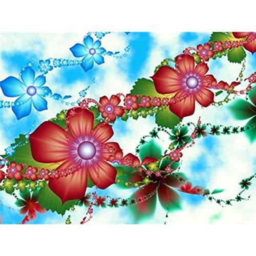 Blumen DIY 5D Vollbohrer Diamant Malerei Stickerei Kreuzstich Kit Strass Kristall Dekoration Handwerk