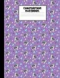 Composition Notebook: Husky Purple College Ruled Book
