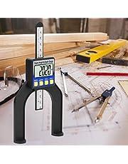 【𝐃𝐢𝐚 𝐝𝐞 𝐥𝐚 𝐌𝐚𝐝𝐫𝐞】Regla de medición de profundidad, mini medidor de altura digital, medidor de límite digital LCD de altura, herramienta de carpintería, para la decoración del hogar de carp