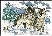初心者の大人の子供のためのクロスステッチキットジニア刺繡パターンのクロスステッチ用品11CT刻印された針先キット家の装飾のためのギフト16x 20