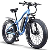 ride66 Bicicleta Electrica de Montaña para Adulto Hombre Mujer MTB 26' 1000W 48V 16Ah Ebike (Azul)