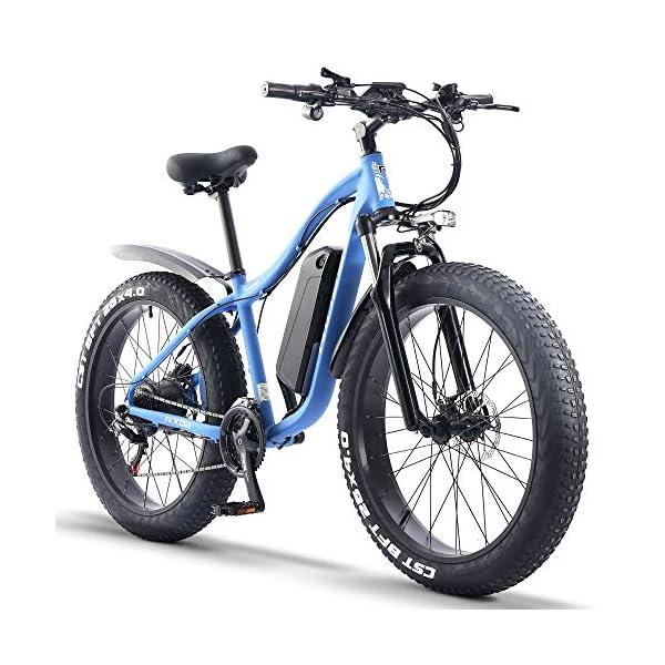 51O6HE5amvL. SS600  - ride66 e Bike Mountainbike ebike Herren Damen 26 Zoll 1000W 48V 16Ah Fatbike