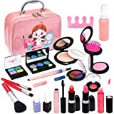 Washable Makeup Kit for Girls, Play Real Makeup Toddler Toys , Princess Beauty Makeup Set for Girl / Toddler, Safe & Non Toxic Makeup for 3 4 5 6 7 8 9 10 Year Old Girl Christmas Birthday Gifts.
