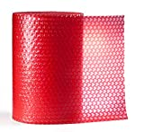 Loveable Bubble - Red Hearts - Decorative Air Cushion Packaging for Holidays and Special Occasions - 12 Inches Wide x 32 ft Long
