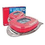 Nanostad 3D Stadion 70012121-Puzzle Allianz Arena München- FC Bayern, 1860 Stadion, rot