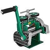 VEVOR Manuelle Rolling Mill Kombination Walzwerk 120mm Handwalzwerk Maschine 80mm Maschine Schmuck mit Gute Verschleißfestigkeit Tablettierung Vierkantdraht für Schmuck Design und Reparatur