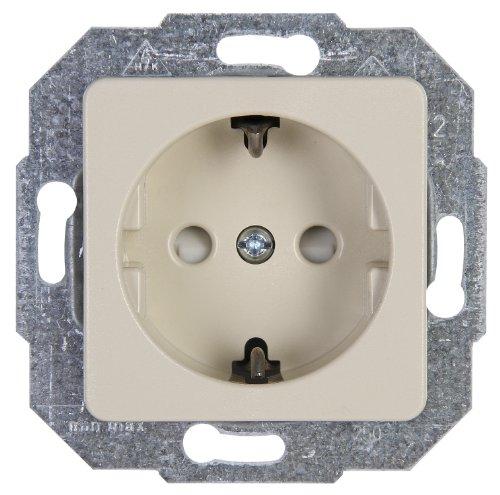 Kopp 112601087 Europa Schutzkontakt-Steckdose mit erhöhtem Berührungsschutz