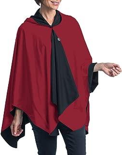 SpiritCaper Rainproof Rain Poncho for Women - Ultrasoft Reversible Rain Cape for Tailgating & Sidelines (Choose Your Color)