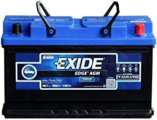 Exide Edge FP-AGML5//49 Flat Plate AGM Sealed Automotive Battery