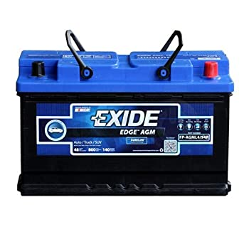 Exide Edge FP – AGML4/94R Flat Plate AGM Sealed Automotive Battery