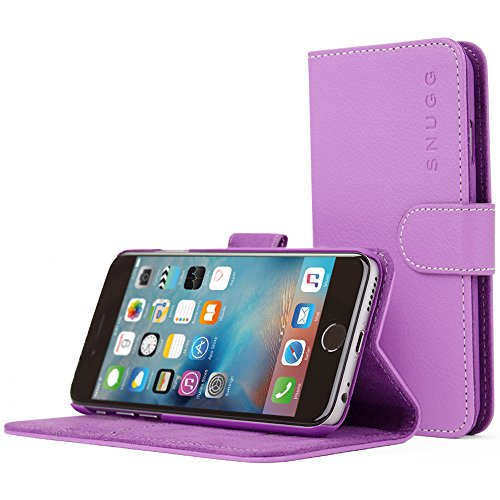 iPhone 6 Case, Snugg - Purple Leather iPhone 6 Flip Case Premium Wallet Phone Cover with Card Slots for Apple iPhone 6
