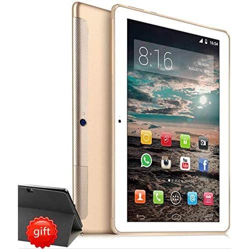 4G LTE Tablet 10 Pollici HD - TOSCIDO W109 Android 9.0 Certificato da Google GMS, Quad-Core,64 GB ROM,4 GB RAM,WiFi/Bluetooth/ GPS,Suono Stereo con Doppio Altoparlante – Oro