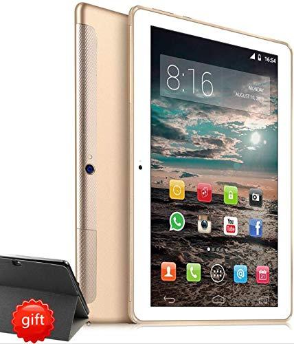 4G LTE Tablet PC 10 Zoll Dual SIM - TOSCIDO Android 9.0 Zertifiziert von Google GMS,Quad Core,64GM eMMC,4GB RAM,Doppelt Lautsprecher Stereo,WiFi/Bluetooth/GPS/OTG - Golden