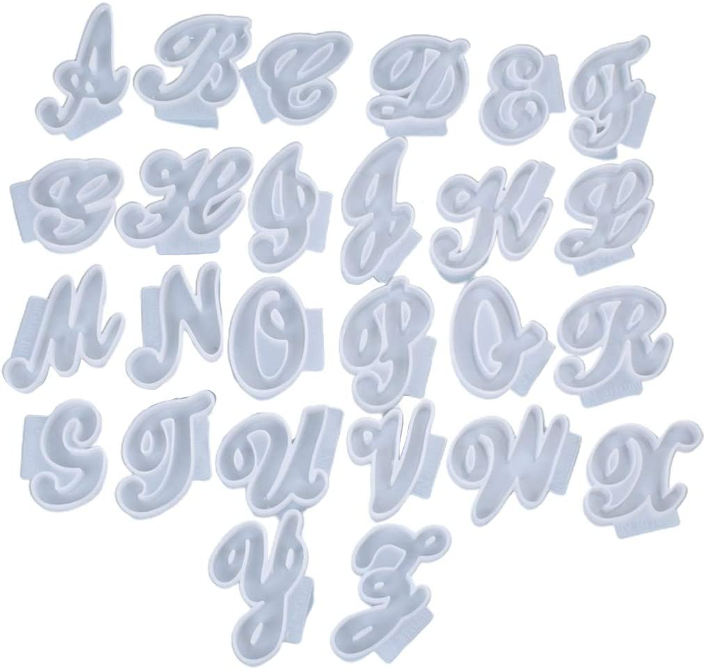 SOFEA 26Pcs Inexpensive Set English Letters Resin A-Z Mold Shaped Award Alphabet P