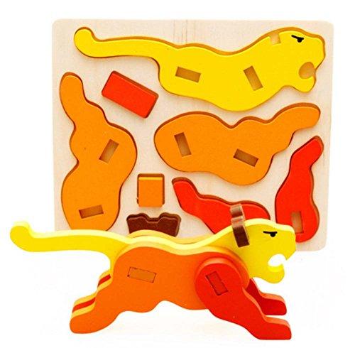 Tiger Puzzle Bois désassemblage Puzzle Dimensional (3-6 ans)