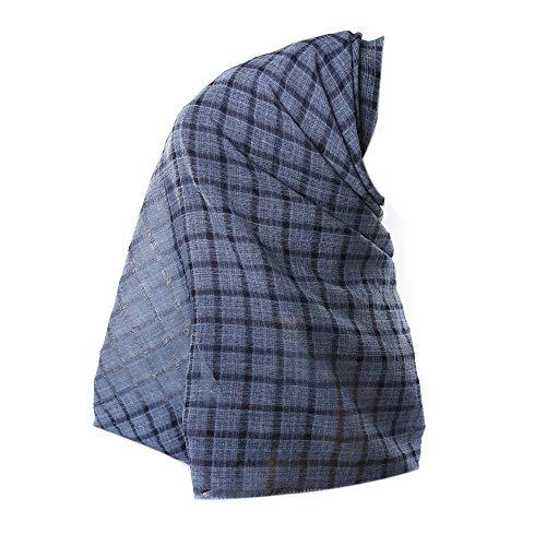 YCQUE Schal FüR Damen, Klassische Mode Solide Gittermuster Crinkle Cloud Hijab Schal Schal Muslim Ramadan Schals Sonnenschirm Winddichtes Multifunktions-Kopftuch