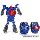 Fewao Juguete Reloj Transformers Juguetes Niños 2 en 1 Transformadores electrónicos Juguetes Reloj Robot deformado Transformación Manual Robot Juguetes Regalo para niños de 3 a 6 años