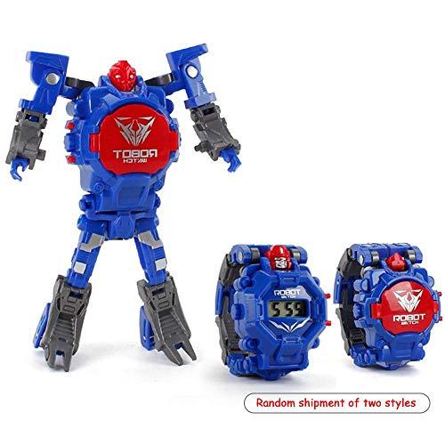 Fewao Orologio Digitale Giocattolo per Bambini Orologi Polso Orologio da Deformazione Giocattolo Orologio Robot Giocattolo per Bambini 3-15 Anni