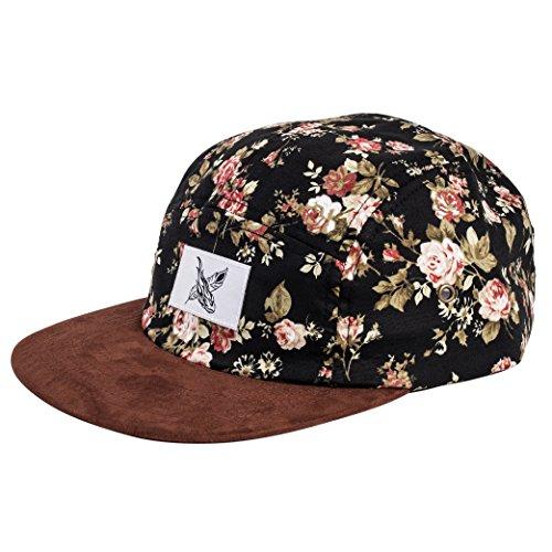 Blackskies 5-panel cap met bloemmotieven unisex baseball cap