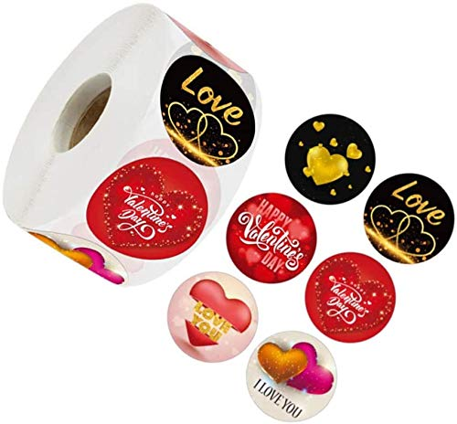 ELindas del Día De San Valentín Etiquetas Engomadasdel Rollo del del Día De San Valentín,San Valentín Etiquetas Pegatinas -500 tabletas