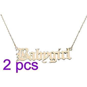 Happyyami Babygirl Buchstaben Halskette Kleine Halskette Schl/üsselbein Kette f/ür Frau Dame Valentinstag Geburtstagsgeschenk