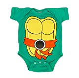 Teenage Mutant Ninja Turtles Green Michelangelo Costume Infant Baby Onesie Romper (Orange Belt) (18 Months)
