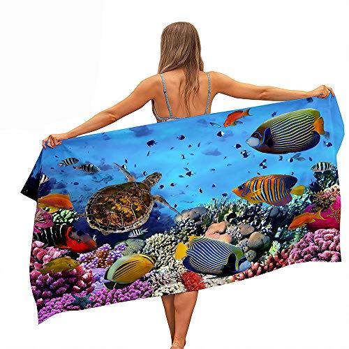 Surwin Telo Mare Grande, Asciugamano da Spiaggia in 100% Microfibra - Asciugamano Asciuga...