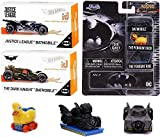 Ride & Roll Premium Batmobile {Batman} Collection Cars Series iD Bundled with Nano Hollywood Rides Mini Penguin Duck Pack + HW Dark Knight + Justice League Bat Editions 3 Items