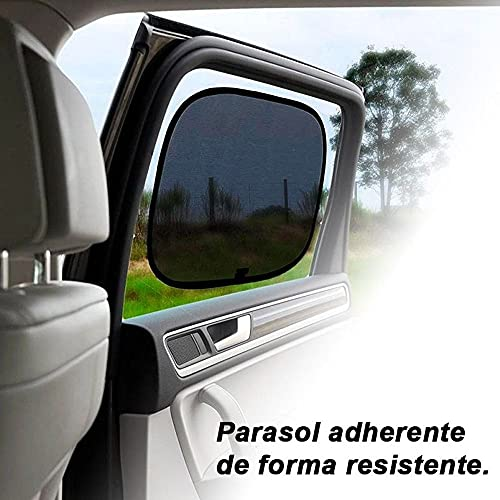 Pack 2 Unidades Parasol Coche - Protector Solar Coche - Protector Solar Ventana - Parasol Coche Bebe - Window Car Sun Shade - Protector Ventana Coche Lateral - Parasol Adhesivo - Parasol Later