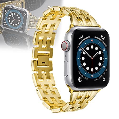 Compatible para Apple Watch Correa 40 mm Correas iWatch 38 mm Correa de muñeca Pulsera de Metal Correa de Repuesto para Apple Watch SE Series 6/5/4/3/2/1,38mm/40mm