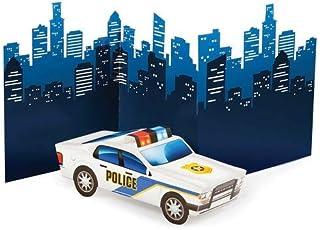 Creative Converting CENTERPIECE 3D POLICE CAR, One size, Multicolor