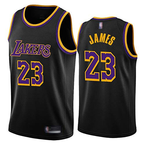 Lebron James Jersey per gli uomini, Lakers 23 Nero Mamba Fan Uomini Basket Jersey Unisex Basket Canotta Abbigliamento Allenamento Tuta (S-XXL) Blu XL
