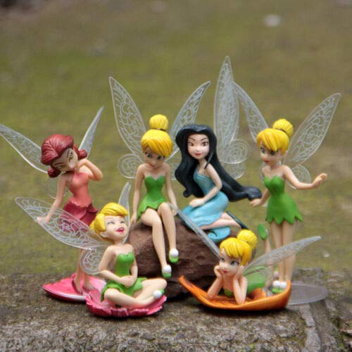 Amazing Tinkerbell Tinker Bell Fairy Girls Dolls 6pcs Figures Cake Topper Party Toy Gift for Boys and Girls