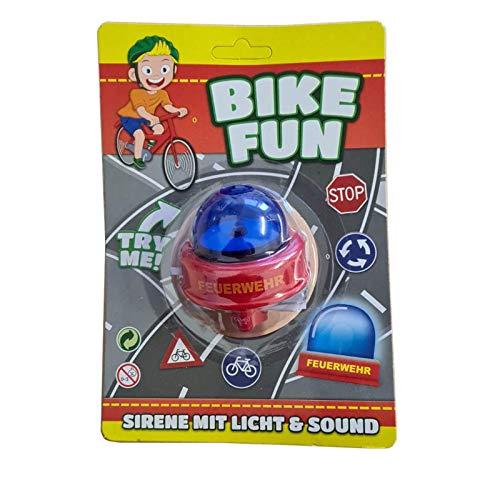 Smart Planet Fahrradsirene - Feuerwehr Fahrradklingel - Bike Sirene - lustige Feuerwehrsirene für Kinder - Fahrrad Klingel für den Fahrradlenker