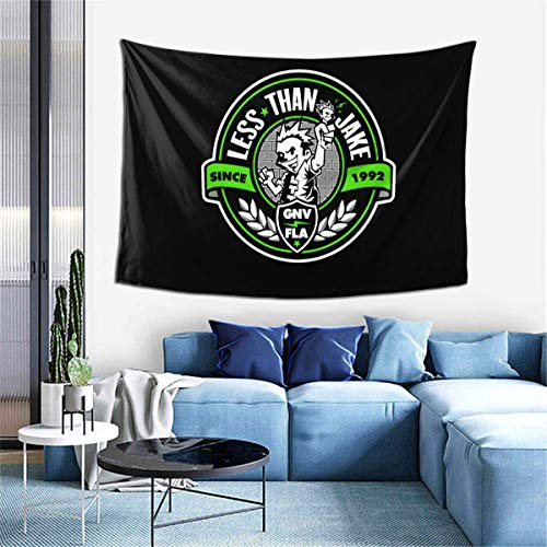 "Lawenp Wanddekoration Home Decoration Tapestries Less Than Jake Logo Tapestry Wide Wall Hanging for Bedroom Living Room Dorm, 60"" X 40"""