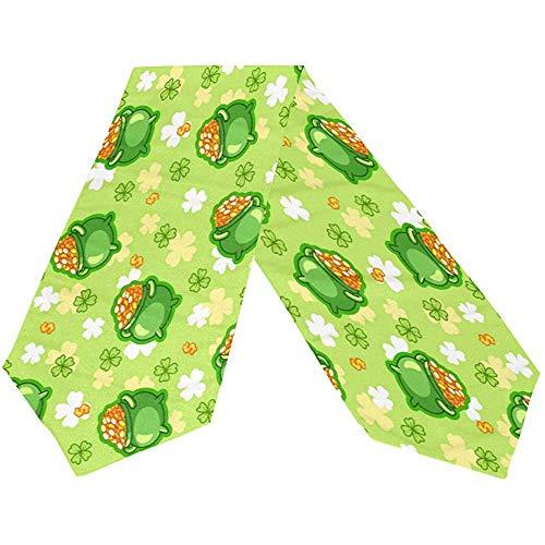sunnee-shop Gelukkige St Patrick dagklaverblad-groene gouden tafelloper, lente-ivoor-hoed-groene rechthoekige tafelloper