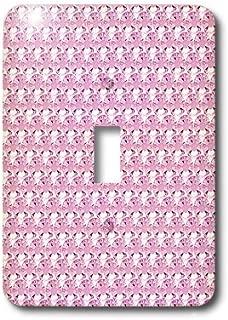 3dRose lsp_24650_1 Pink Rhinestone Gem Print Toggle Switch, Multi-Color