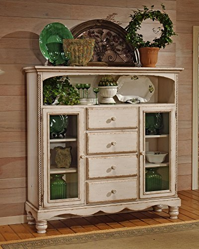 Hot Sale Antique White Bakers Cabinet Rack w Four Drawers