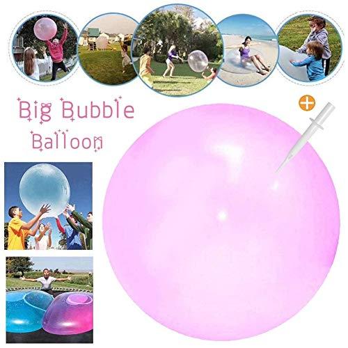 Sunshine smile Bubble Ball Spielzeug,Wasserball Bubble,Bubble Ball Wassergefüllter Interaktiver,Bubble Ball Reißfest,Weichgummiball,Bubble Balloon,Bubble Ball Aufblasbar für Sommer Strand(Rosa)