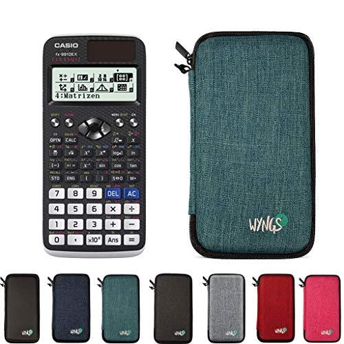Casio FX 991 DE X + erweiterte Garantie + Schutztasche in Türkis
