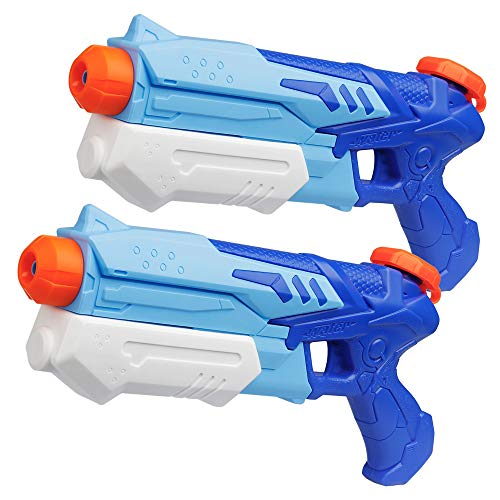 D-FantiX Water Guns 2 Pack, Super Water Blaster Soaker Squirt Guns High Capacity Summer Swimming Pool Beach Party Favors Water Outdoor Fighting Toy for Kids Adults Boy Girl