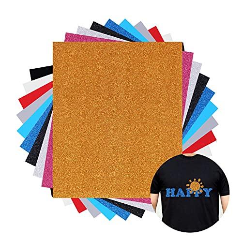JBSON Papel de vinilo textil imprimible Hojas de vinilo de papel transfer para camisetas y tejidos varios