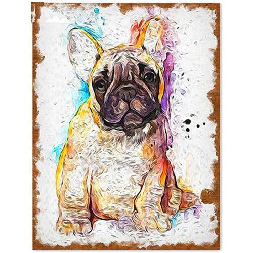 Diamantes De Imitación 3D De Cuadros Pintura De Bulldog Animales De Diamante,...