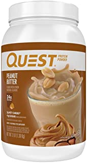 Quest Nutrition Peanut Butter Protein Powder, High Protein, Low Carb, Gluten Free, Soy Free, 48 Ounce (Pack of 1)