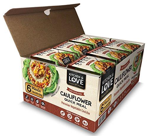 Kitchen & Love Peruvian Vegetable Ceviche Cauliflower Quick Meal 6 Pack