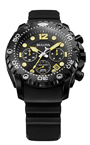 Bulova - 98B243 - Sea King - Montre Homme - Quartz Chronographe - Cadran Noir - Bracelet Caoutchouc...