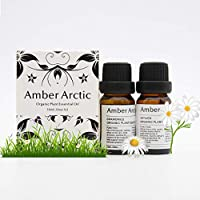 Chamomile Vetiver Essential Oil Set, 100% Pure Aromatherapy Essential Oils for Diffuser, Massage, Skin Care - 2 X 10ml
